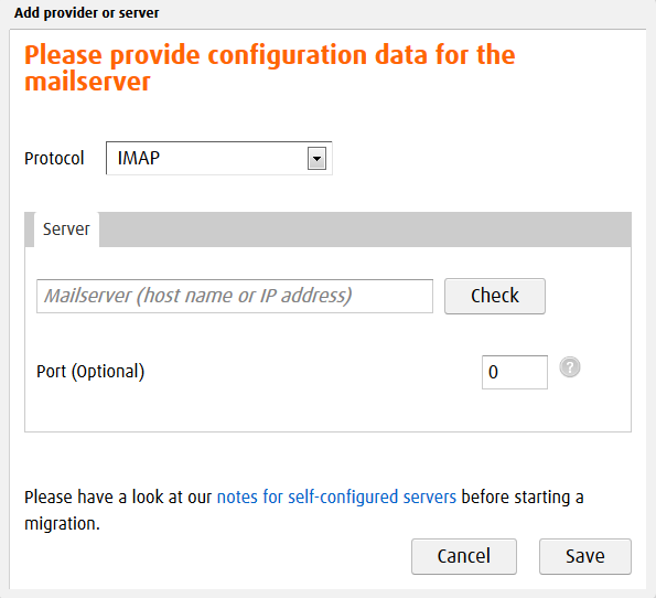 Migration process: audriga Email Migration
